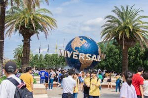 Osaka Japan June 2019: Universal Studios of Japan. Universal Studios Japan for travel tourism with group of people, family, Friends, darling place entertainment in Osaka Japan.